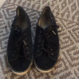 Keds sneakers size 9 black suede comfy shoes
